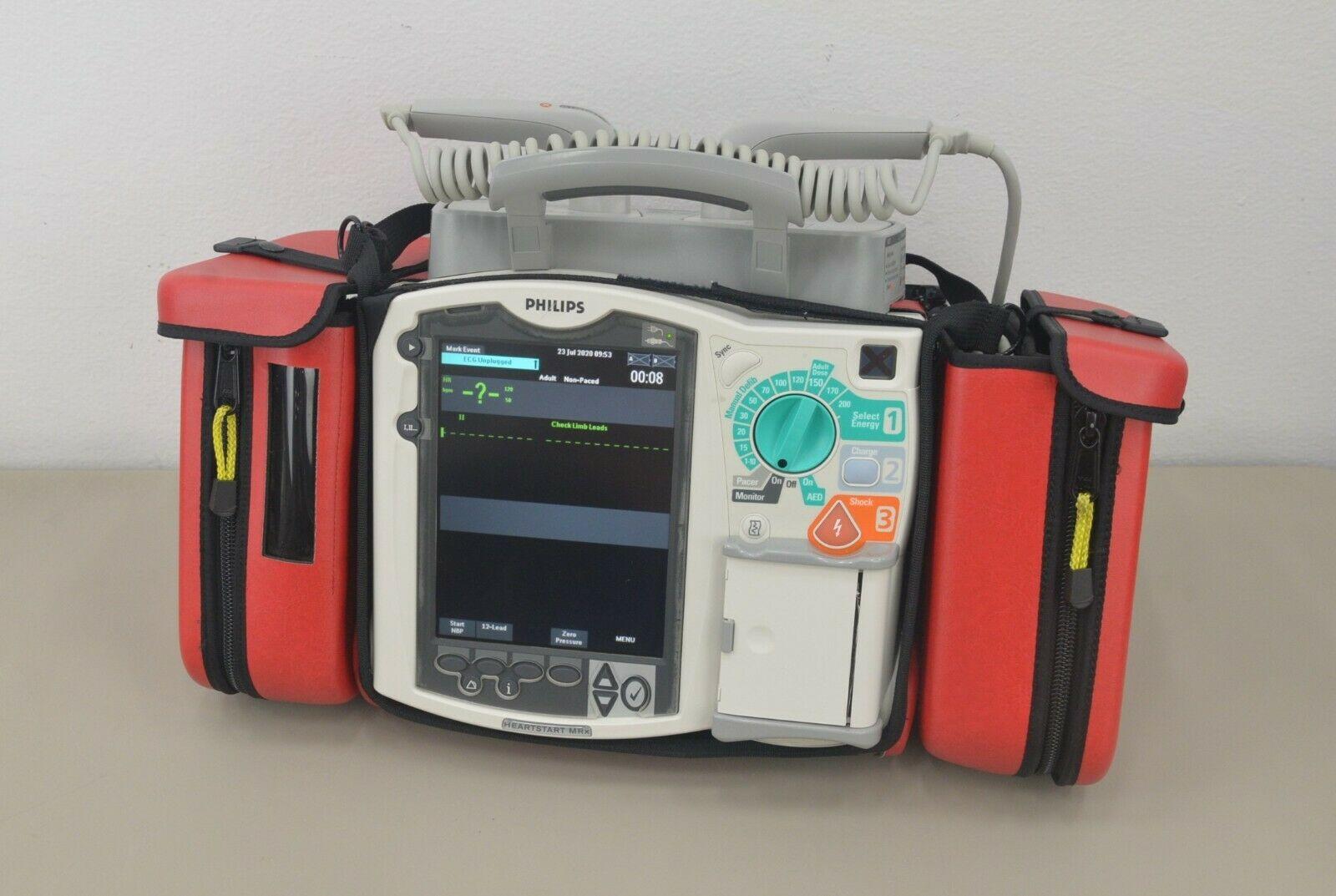 Philips HeartStart MRx M3536A 12-Lead ECG SPo2 NIBP Monitor w/ Paddles (23230) – Rhino Trade LLC